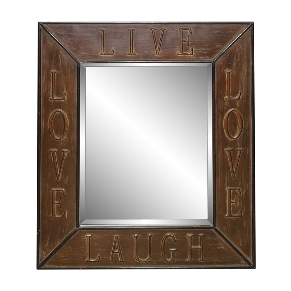 Live Laugh Love Metal Framed Mirror