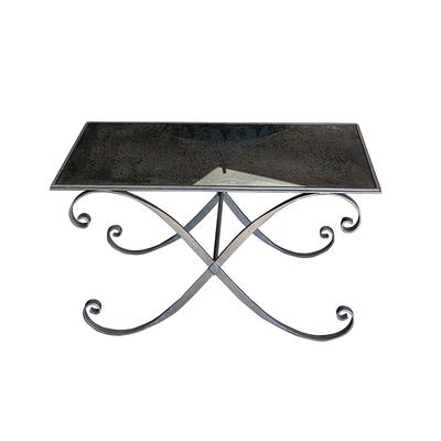 Black Mercury Glass Top Coffee Table