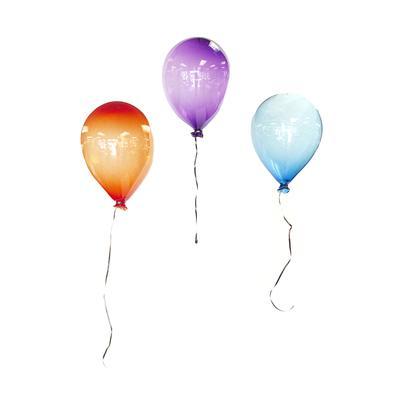 Set of 3 Blown Glass Balloons Decor