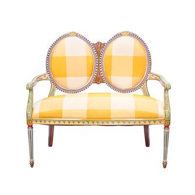 Custom Victorian Painted Love Seat