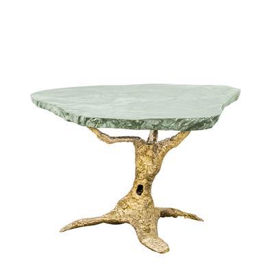 Rare Brass Art Base Marble Top