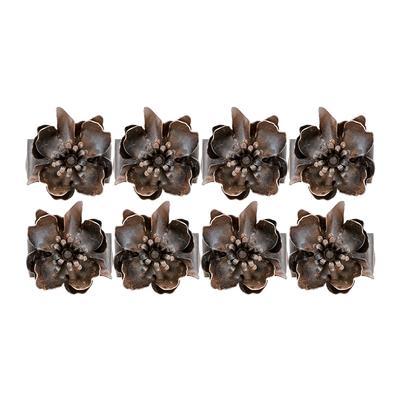 Jan Barboglio Set of Eight Poppy Napkin Rings