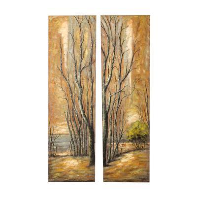 Acrylic Tree Diptych Painting