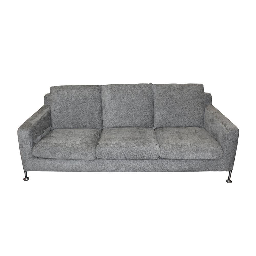 B & B Italia Grey Contemporary Fabric Sofa