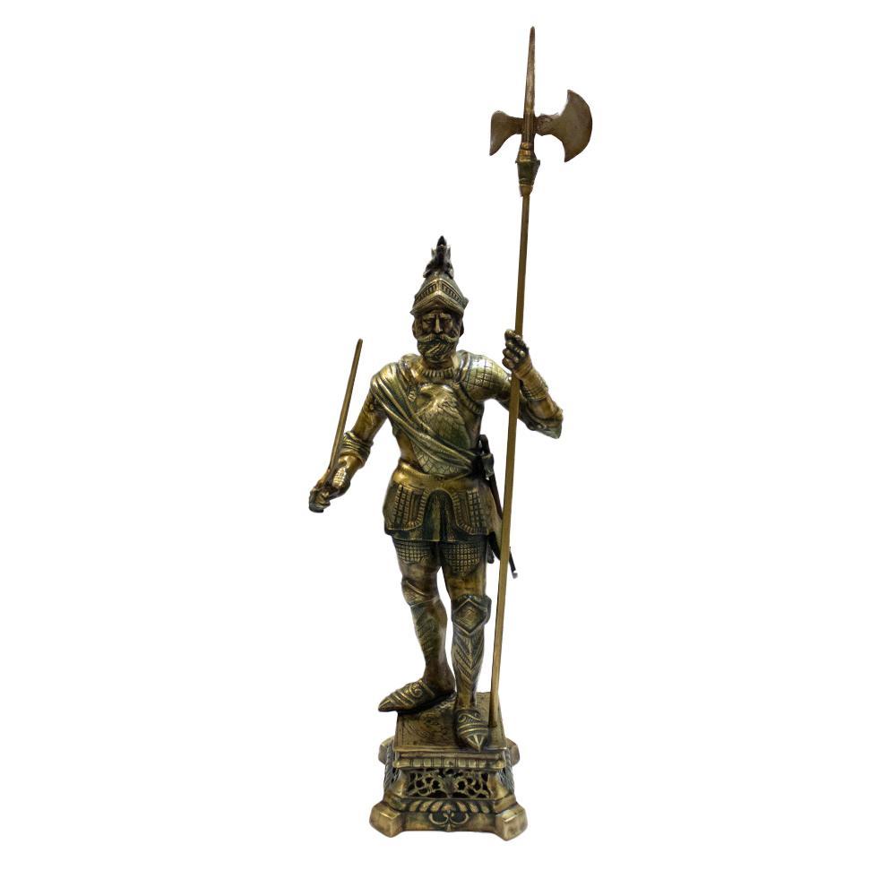 Solid Brass Knight Decor Statue