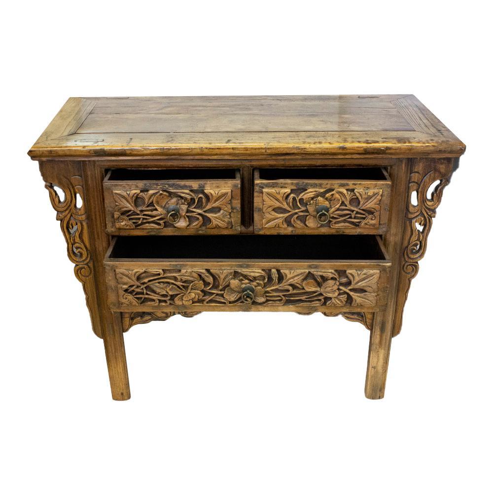 Carved Front Antique Cabinet