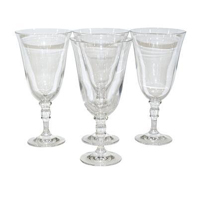 Ralph Lauren Set of 4 Crystal Wine Stems