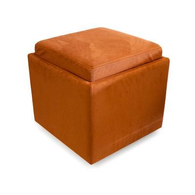 Robb & Stucky Uno Square Storage Ottoman (Az Leather)