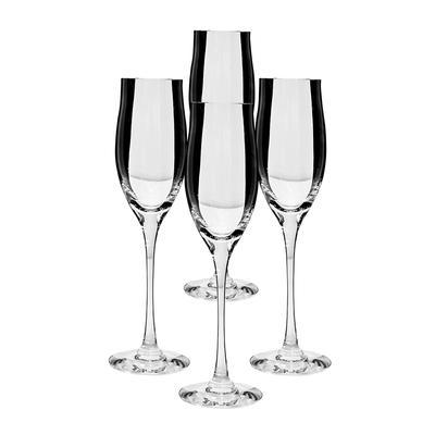 Set of Four Cartier Champagne Flutes
