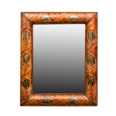 44 x 53 Woven Leaf Mirror