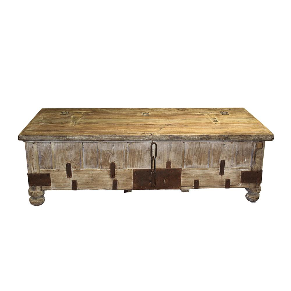 Potato Barn Reclaimed Wood Storage Chest Table
