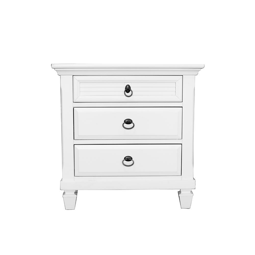 Seabrook White Wooden Nightstand