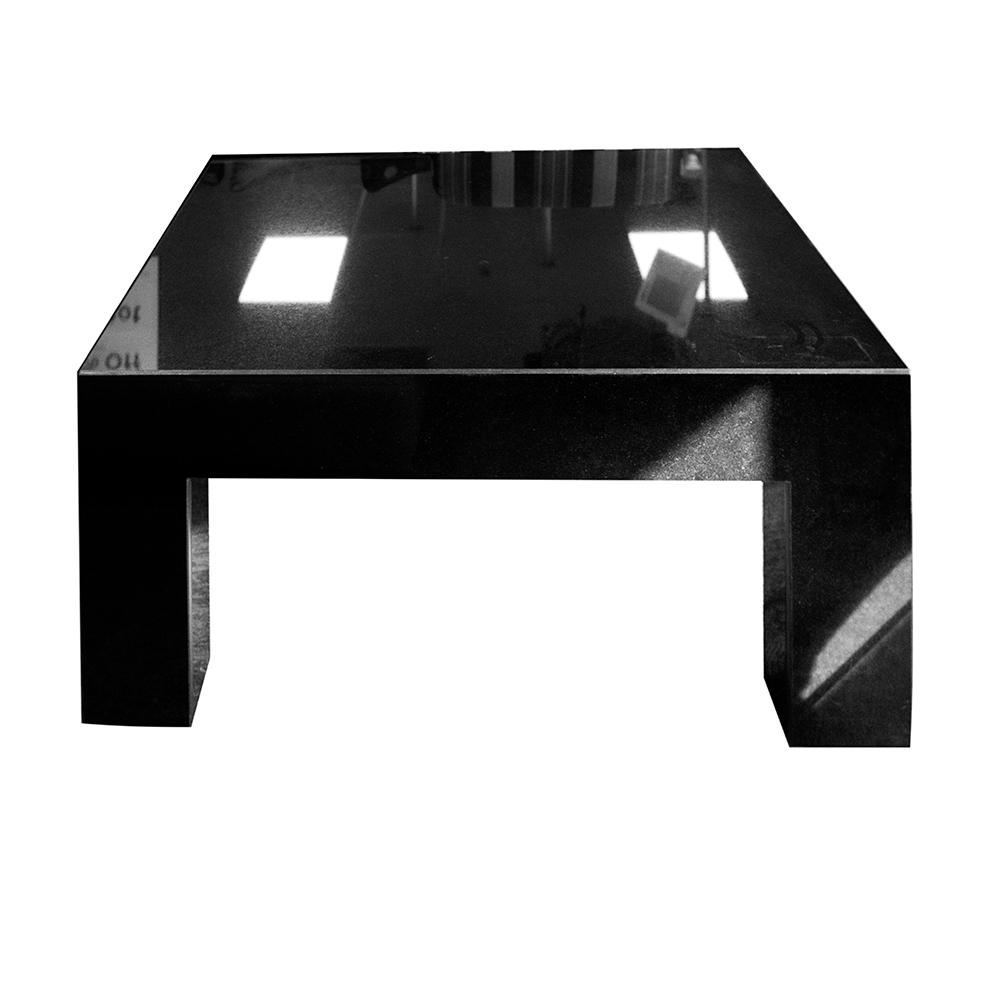 Black Glass Heavy Coffee Table