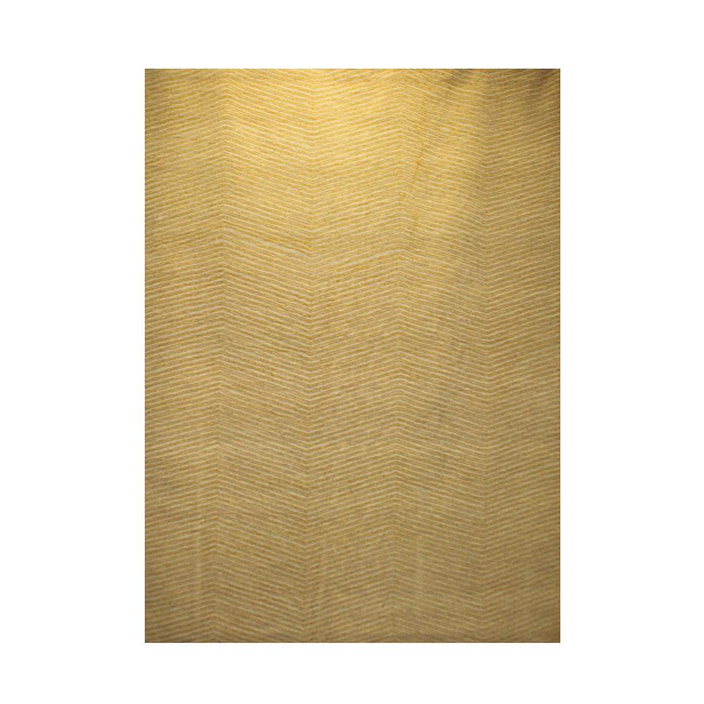 Kaleen Yellow Chevron Patterned Wool Rug