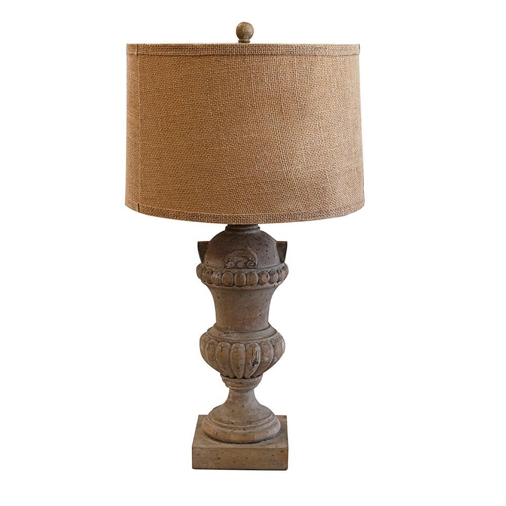 Aiden Grey Pedestal Table Lamp