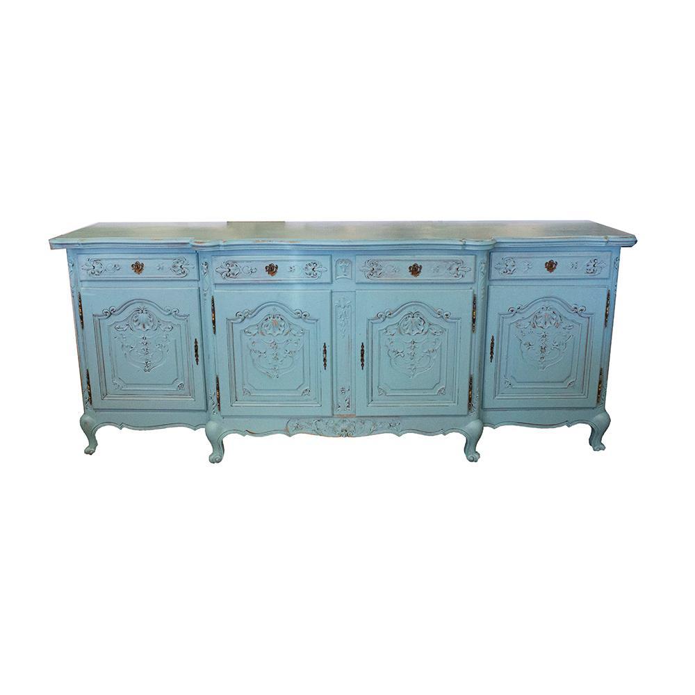4- Door Blue Shabby Chic Buffet