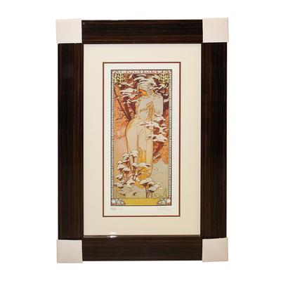 Alphonse Maria Mucha Winter Print