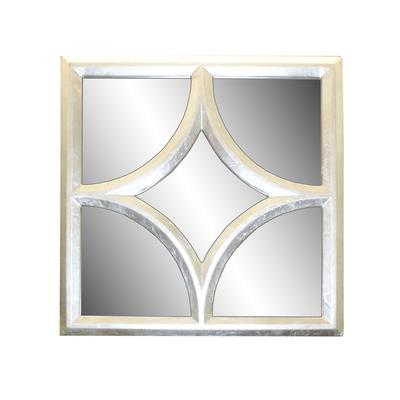 Z. Gallerie Pewter Geometric Pattern Mirror