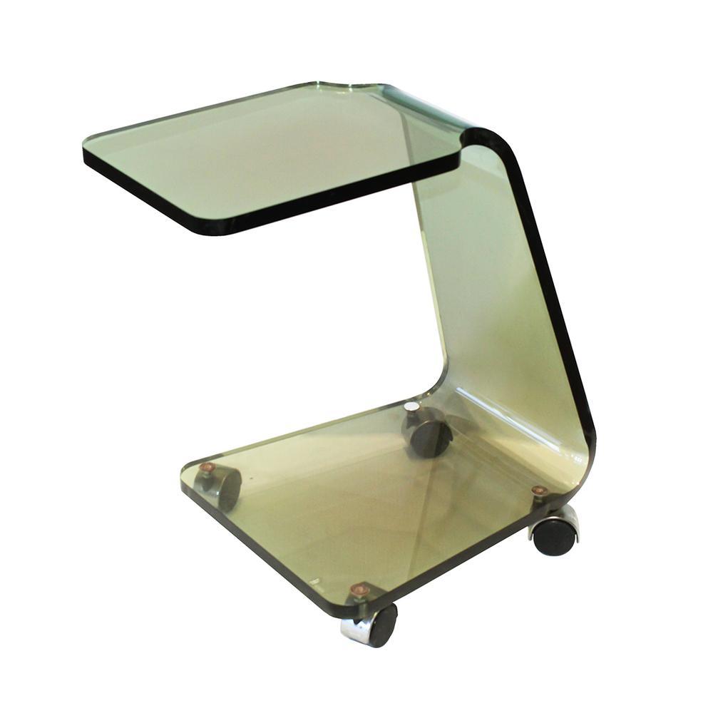 Rolling Plexi Side Table