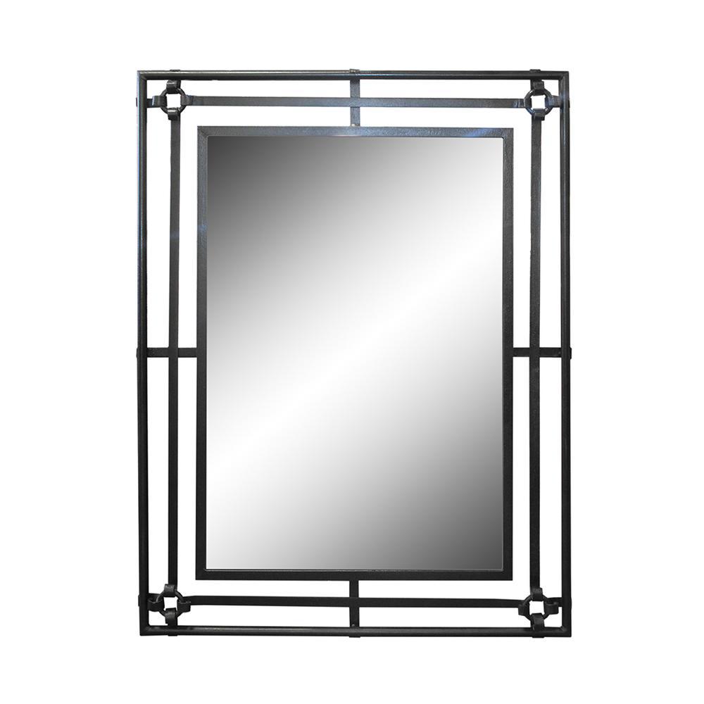 Iron Framed Rectangular Mirror