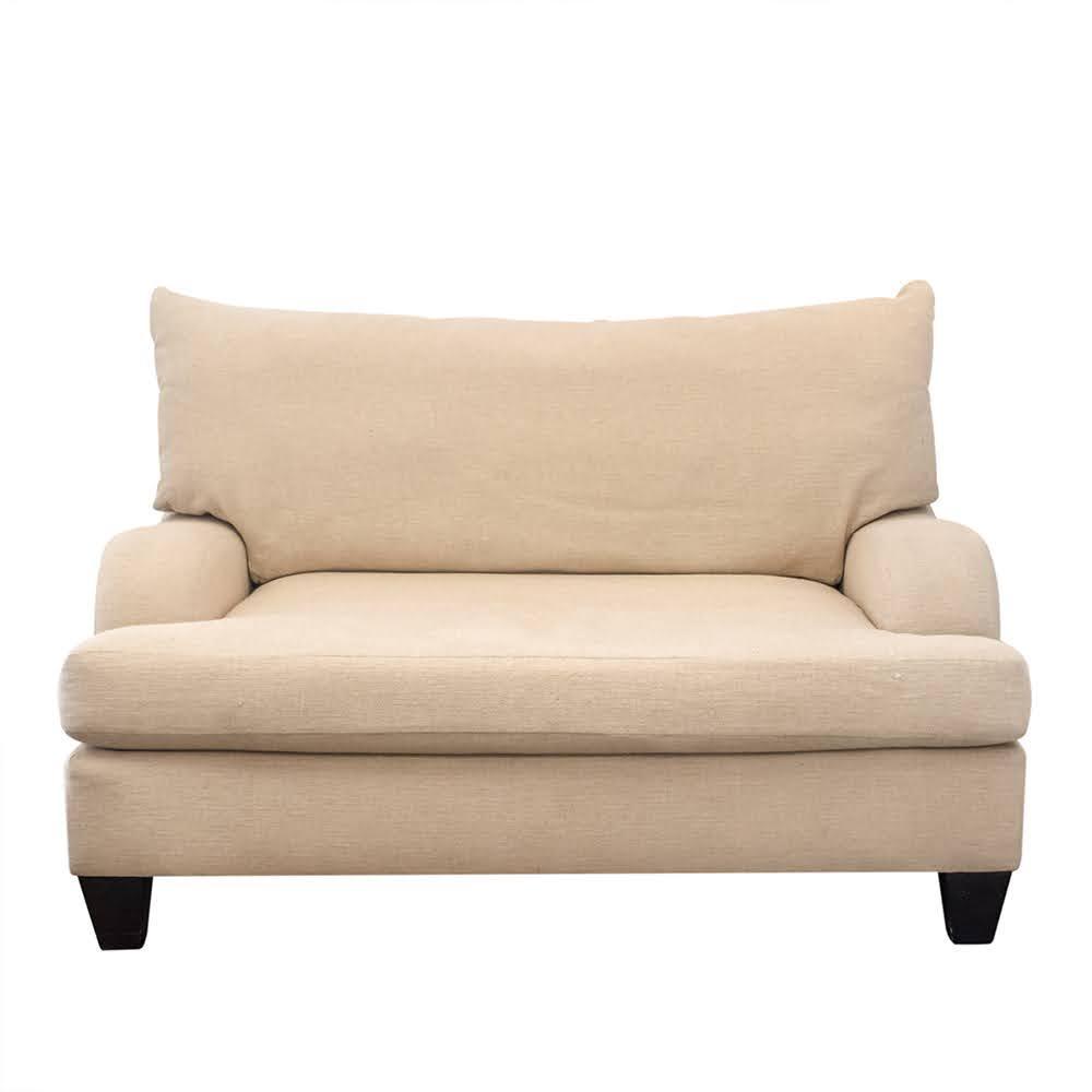 Bernhardt Linen Bench Cushion Loveseat