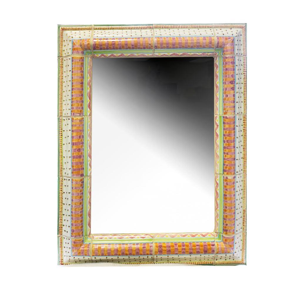 Mackenzie- Childs Ceramic Framed Mirror
