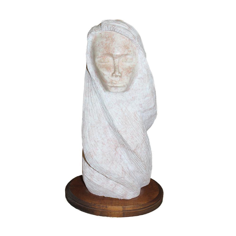 Nitushi Stone Carved Native American Figure