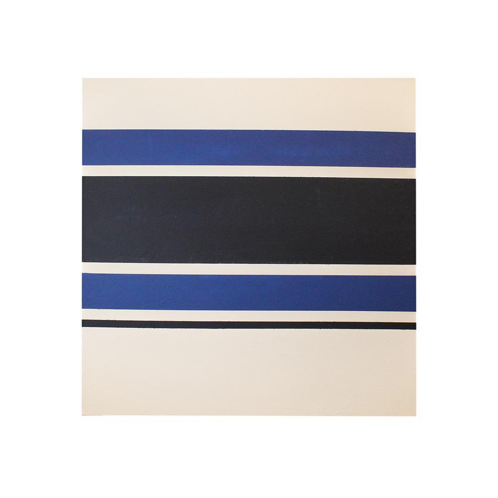 Original Blue & White Stripe Canvas Painting