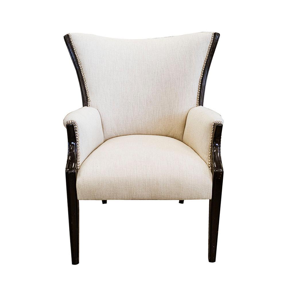 Nailhead Wingback Accent Chair