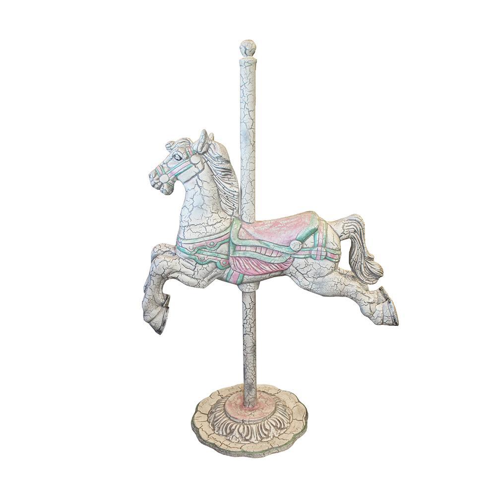 Full Size Metal Carousel Horse Statue