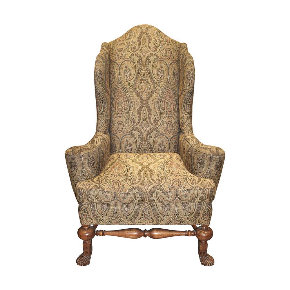 Lexington Wingback Paisley Print Chair
