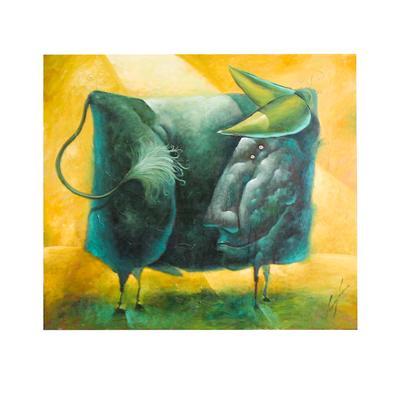 Original Juan Jose Camacho Bull Painting