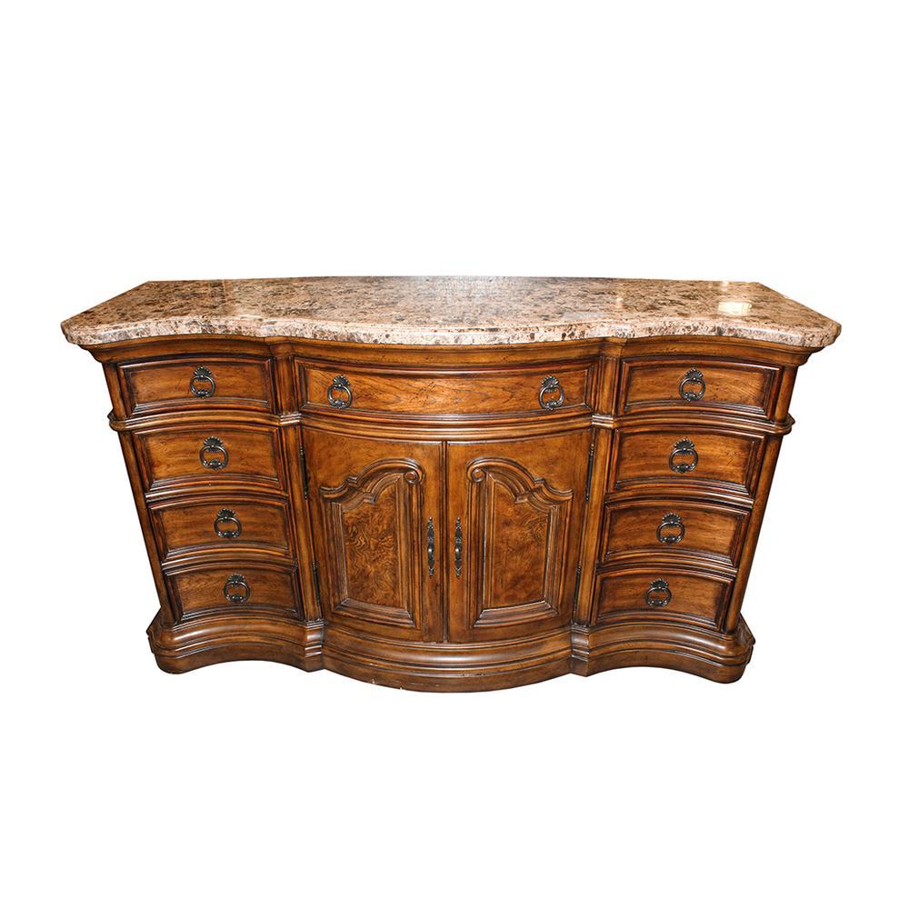 Pulaski San Mateo 9- Drawer Marble Top Dresser