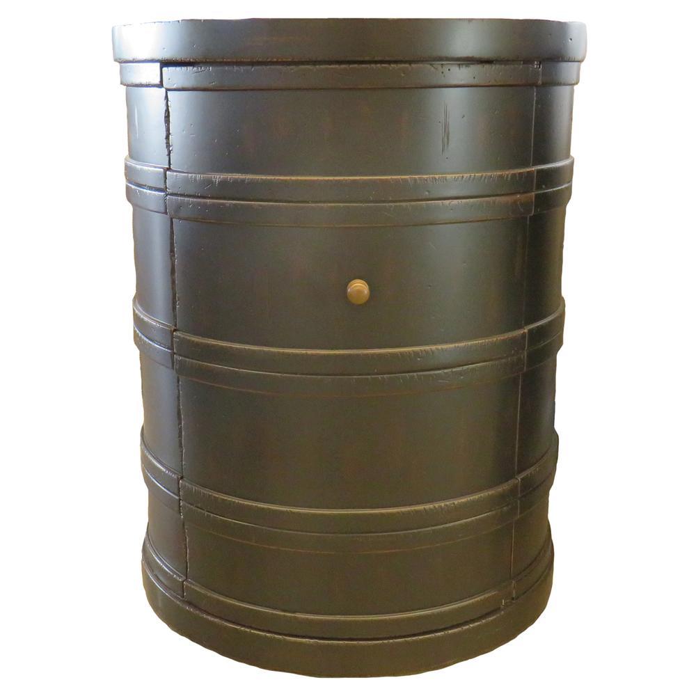 Century Furniture Black Drummaker Side Table