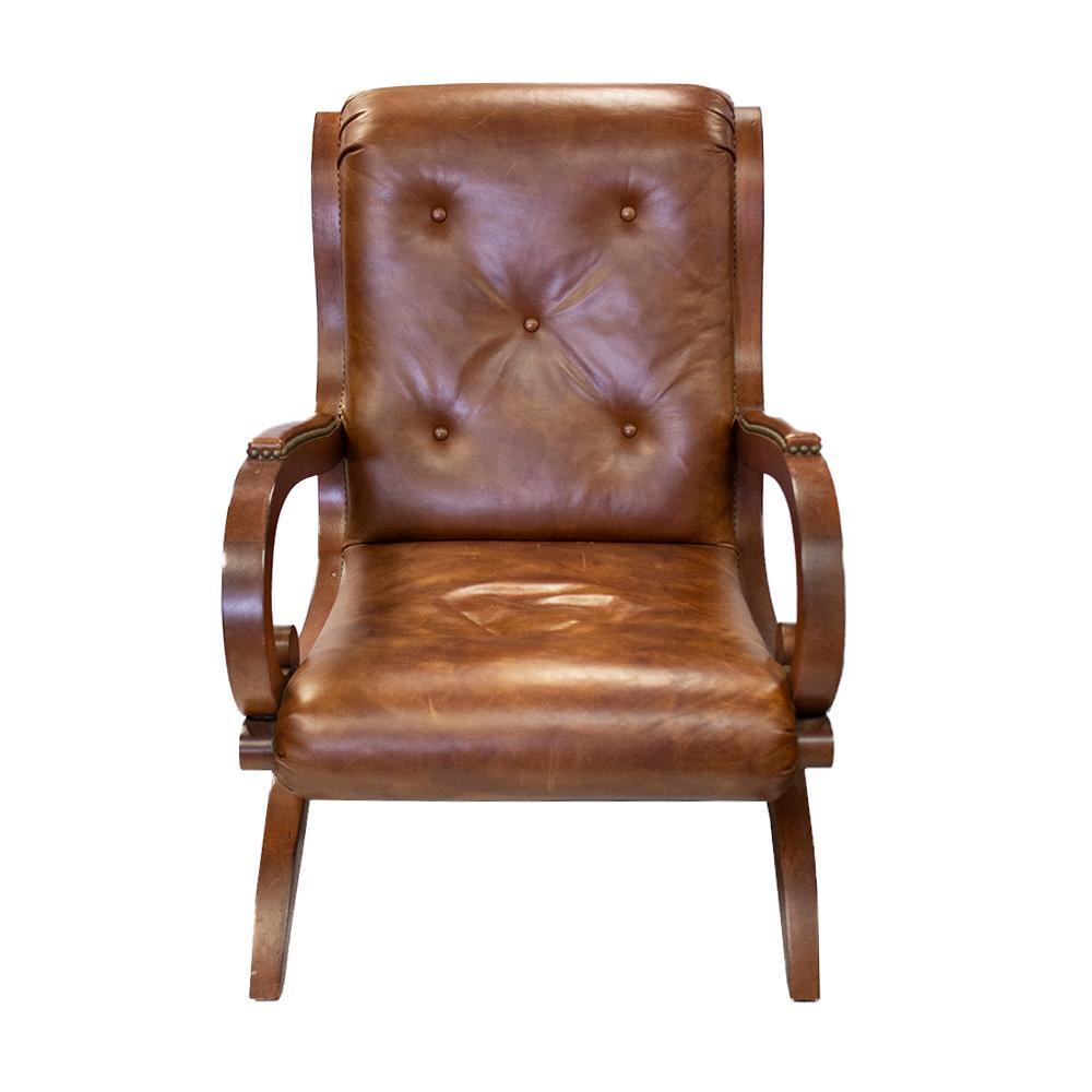 Ralph Lauren Leather Nailhead Accent Chair