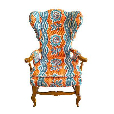 Custom Upholstered Patterned Chair