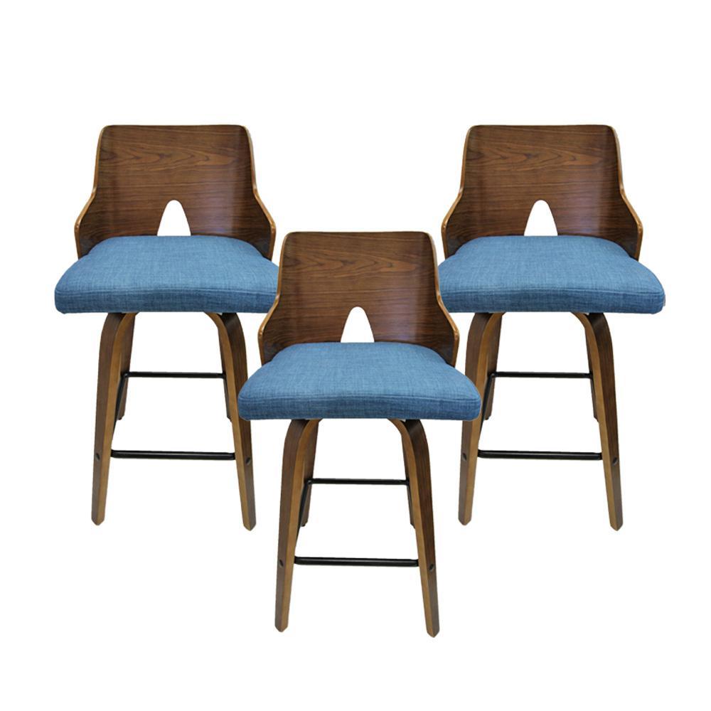 Set Of 3 Lumisource Wood Veneer Chairs