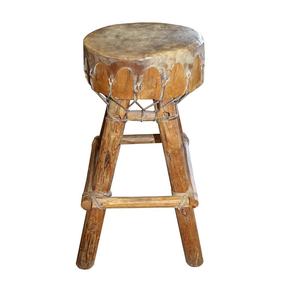 Southwestern Drum Seat Stool