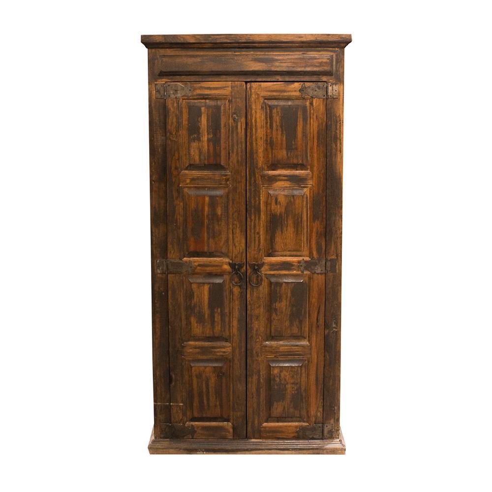 Rustic Wood Wine Cabinet
