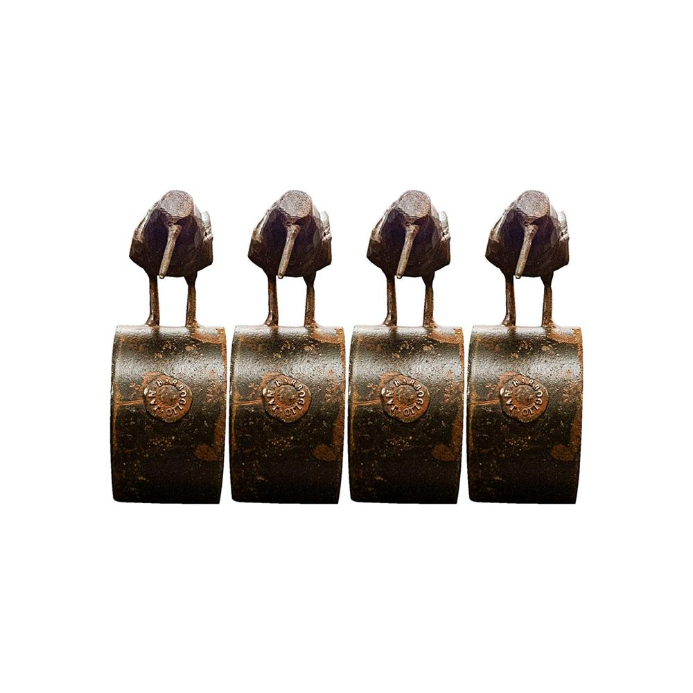 Set Of 4 Jan Barboglio Napkin Rings