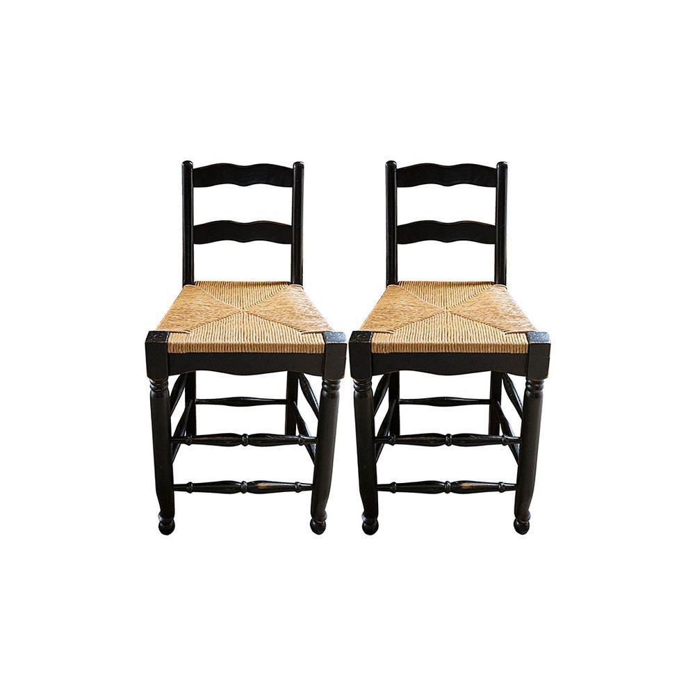 Pair Of Ladder Back Barstools
