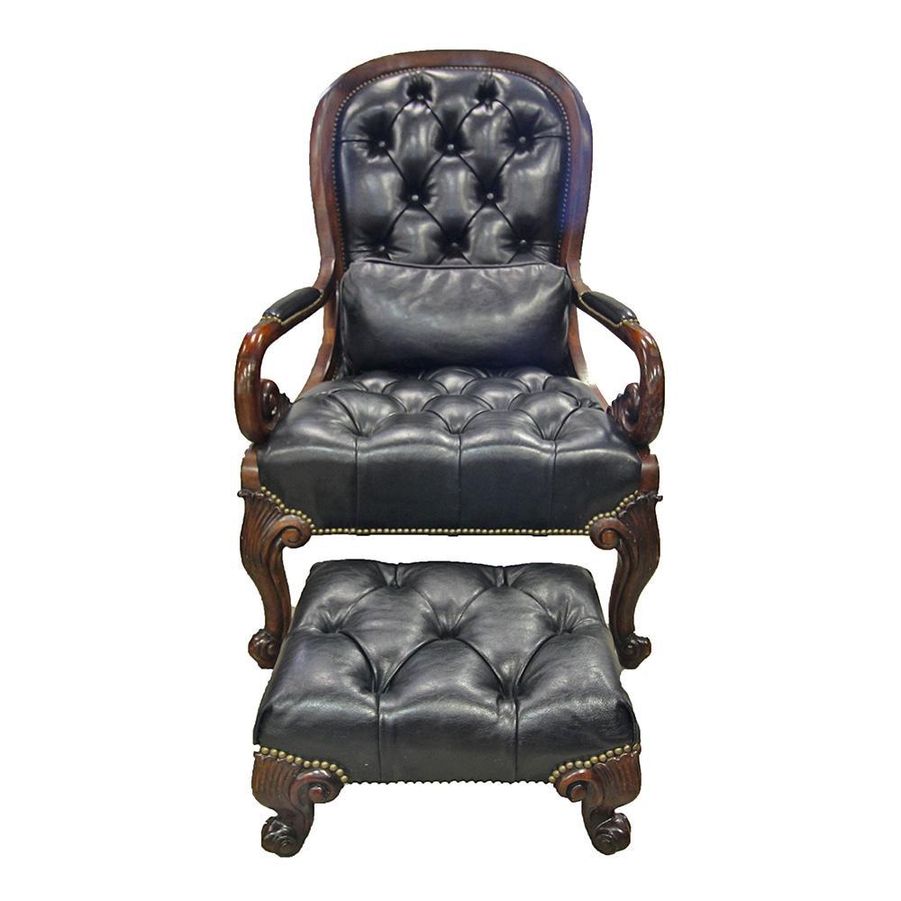 Thomasville Tufted Chair W/Ottoman