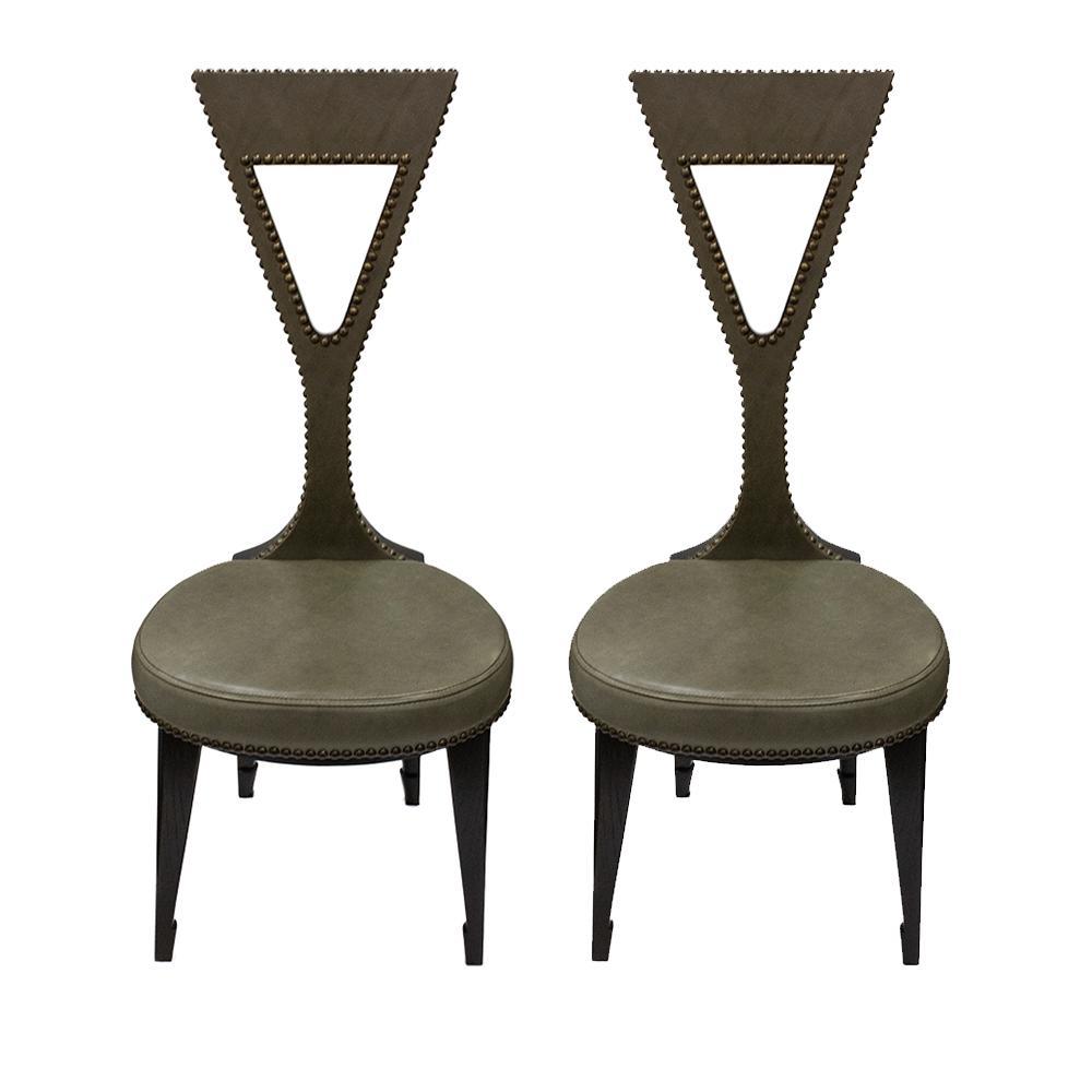 Pair Of Thomas O ' Brien Wyllie Chairs