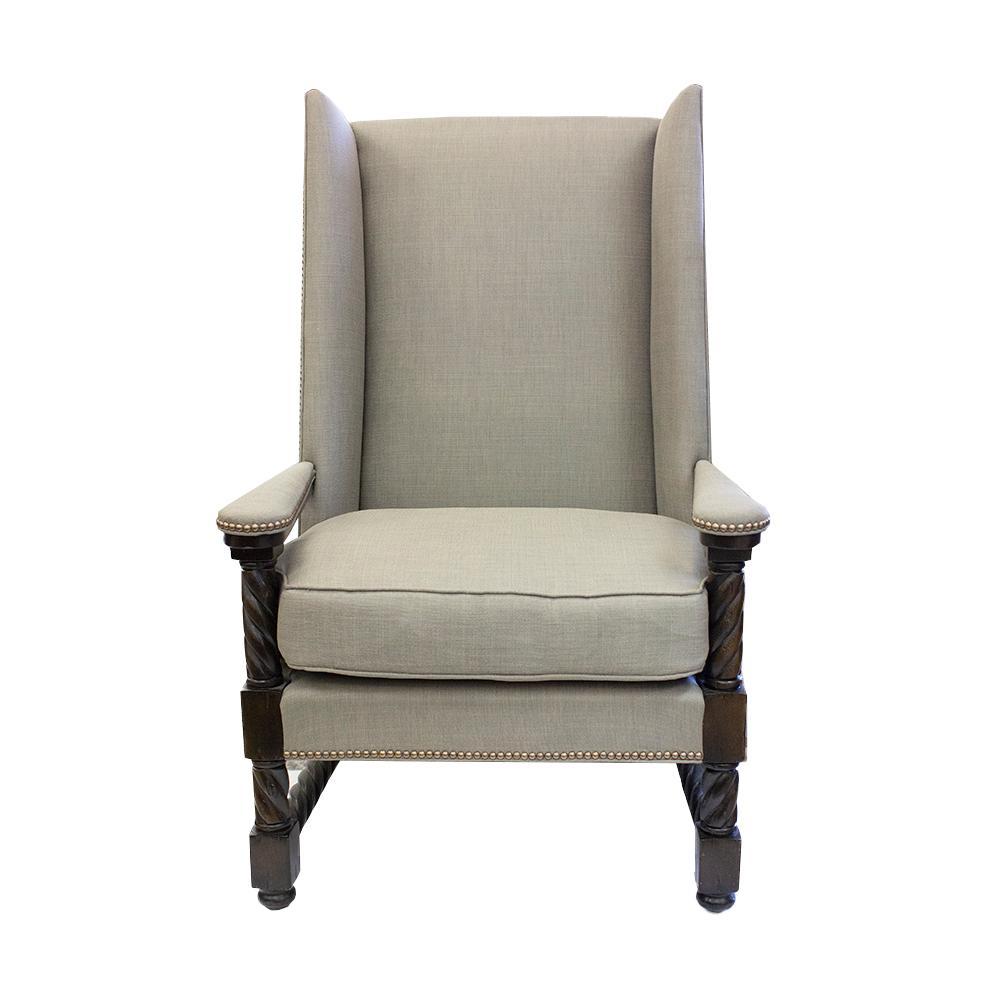 Alexander Wingback Fabric Chair