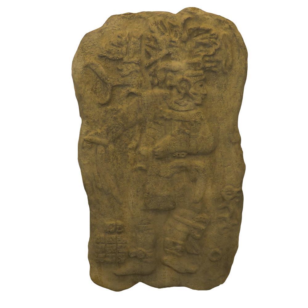 Stone Mayan Hieroglyphics Carving