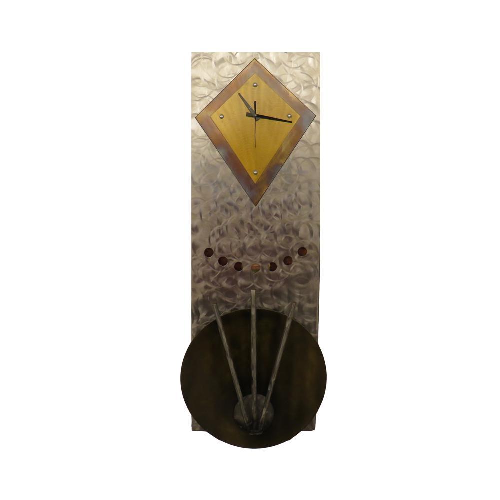 Rectangular Clock Metal Art