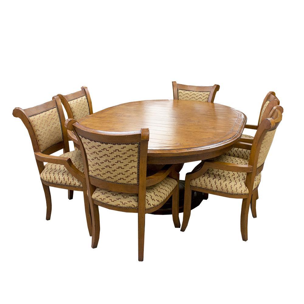 7 Piece Oval Dining Set W/Six Chairs