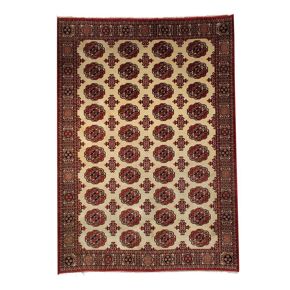 Red & Cream Pattern Rug