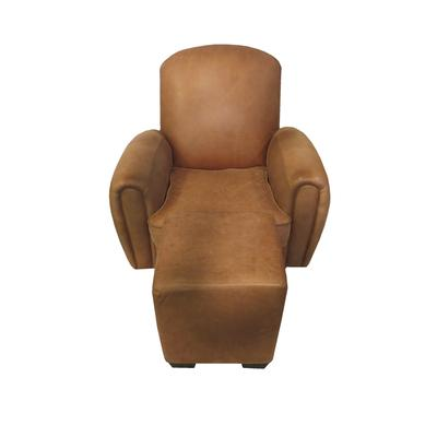 Arizona Leather Club Chair With Ottoman
