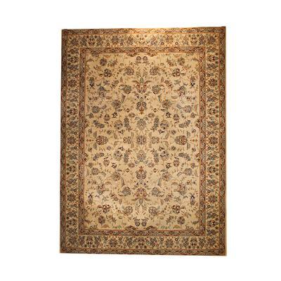 Beige Floral Home Fabrics Rug